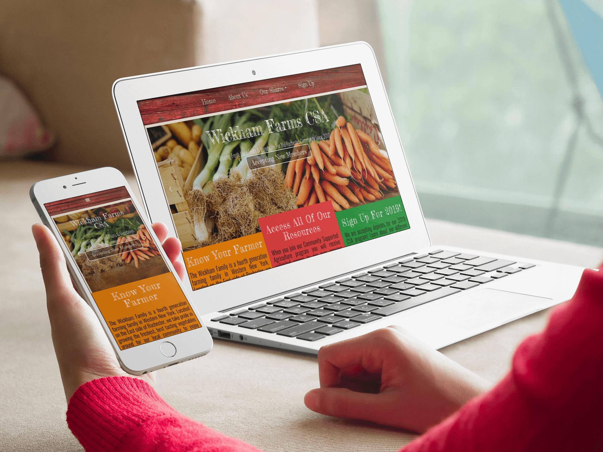 Farm Web Design - CSA Website